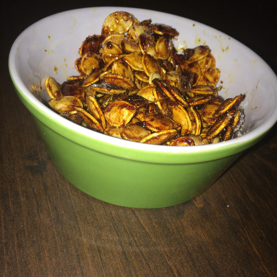 Toasted Pumpkin Seeds with Sugar and Spice Muffet Brown