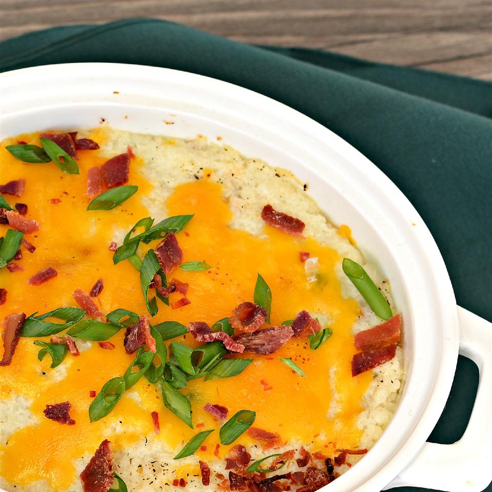 Twice Baked Cauliflower with Bacon