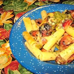 Quick Ziti with Swiss Cheese and Ham Cindy Capps Lepp