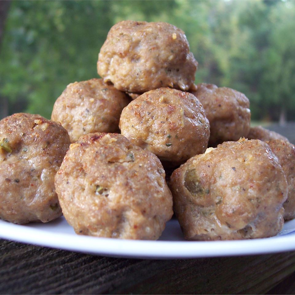 Tantalizing Turkey and Blue Cheese Meatballs pomplemousse