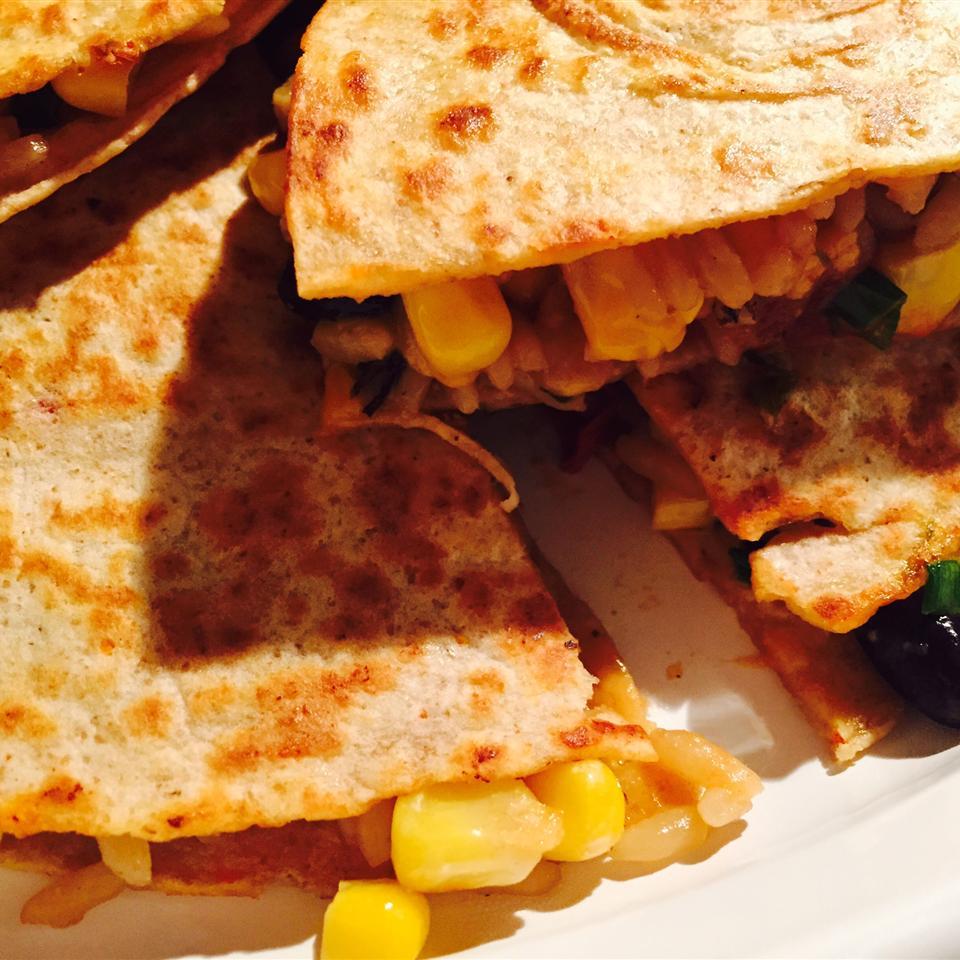 Wild Rice, Corn, and Black Bean Quesadillas Debbie Raia Antonetti