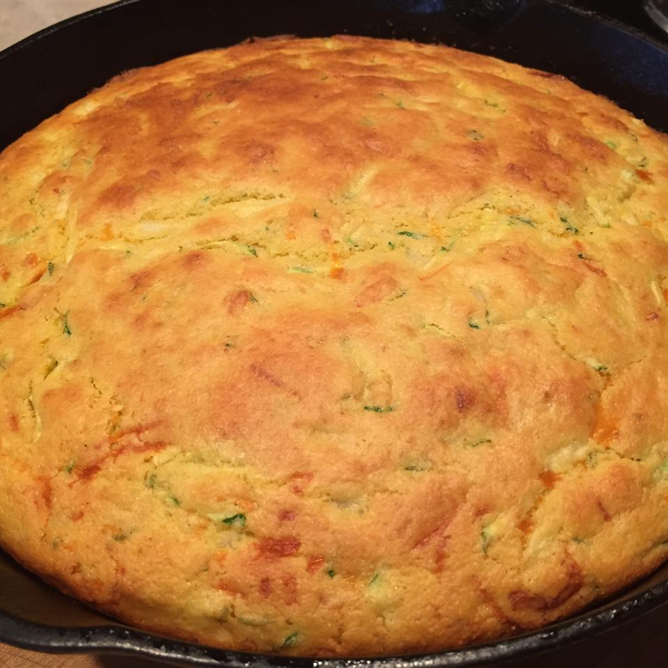 Skillet Zucchini Cornbread