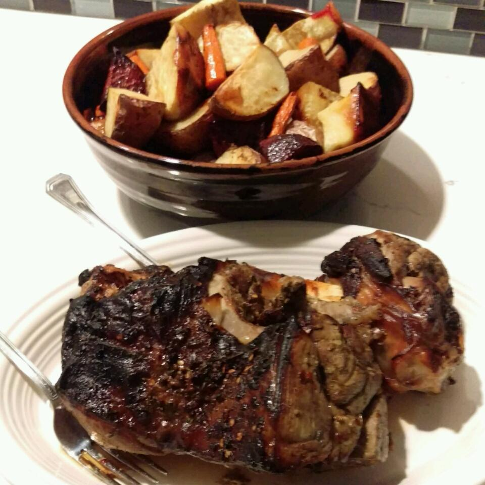 Roasted Lamb with Root Vegetables