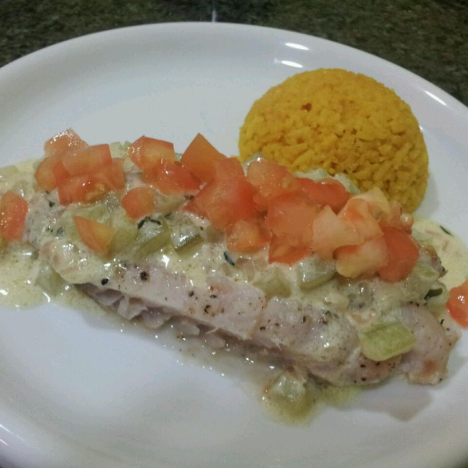 Poached Fish with Cucumbers fmmanigbas
