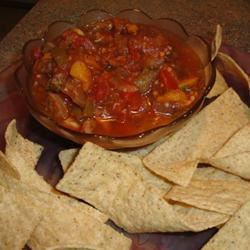 Eggplant Salsa and Homemade Pita Chips Lady at the Stove