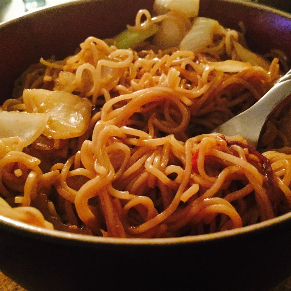 Sweet and Spicy Pork and Napa Cabbage Stir-Fry with Spicy Noodles Jenn Rainey