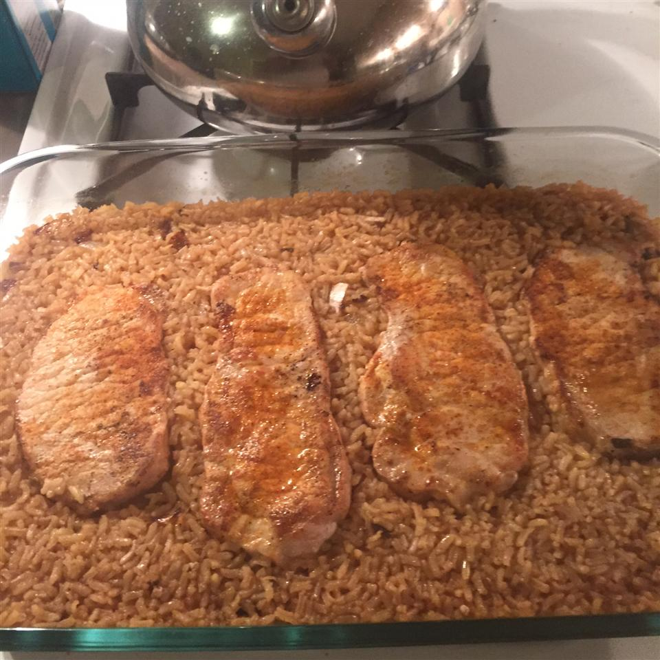 Baked Pork Chops and Rice Gr8teating247