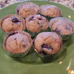 No-Sugar-Added Blueberry and Banana Wheat Muffins