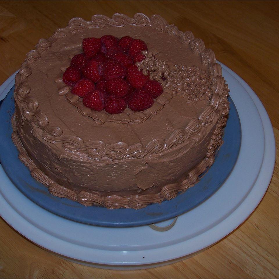 Deep Chocolate Raspberry Cake Cindy the Cous