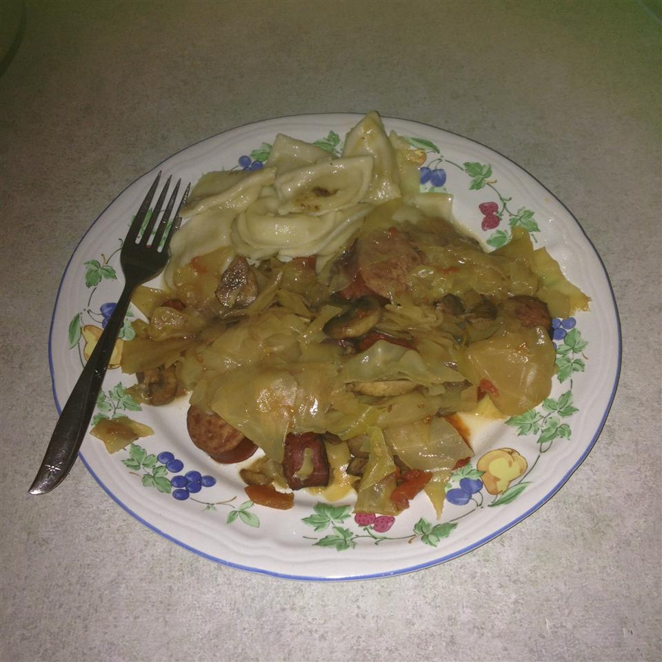 Cabbage, Polish Sausage, and Pierogies Daletia Evans