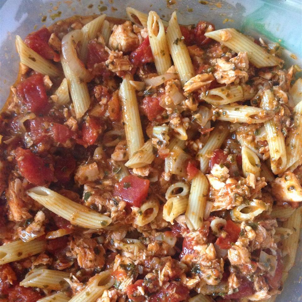 Smoked Salmon Pesto Pasta Kbot