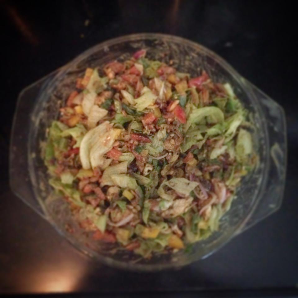 Green Salad with Cranberry Vinaigrette Mehreen Sajid Fakih