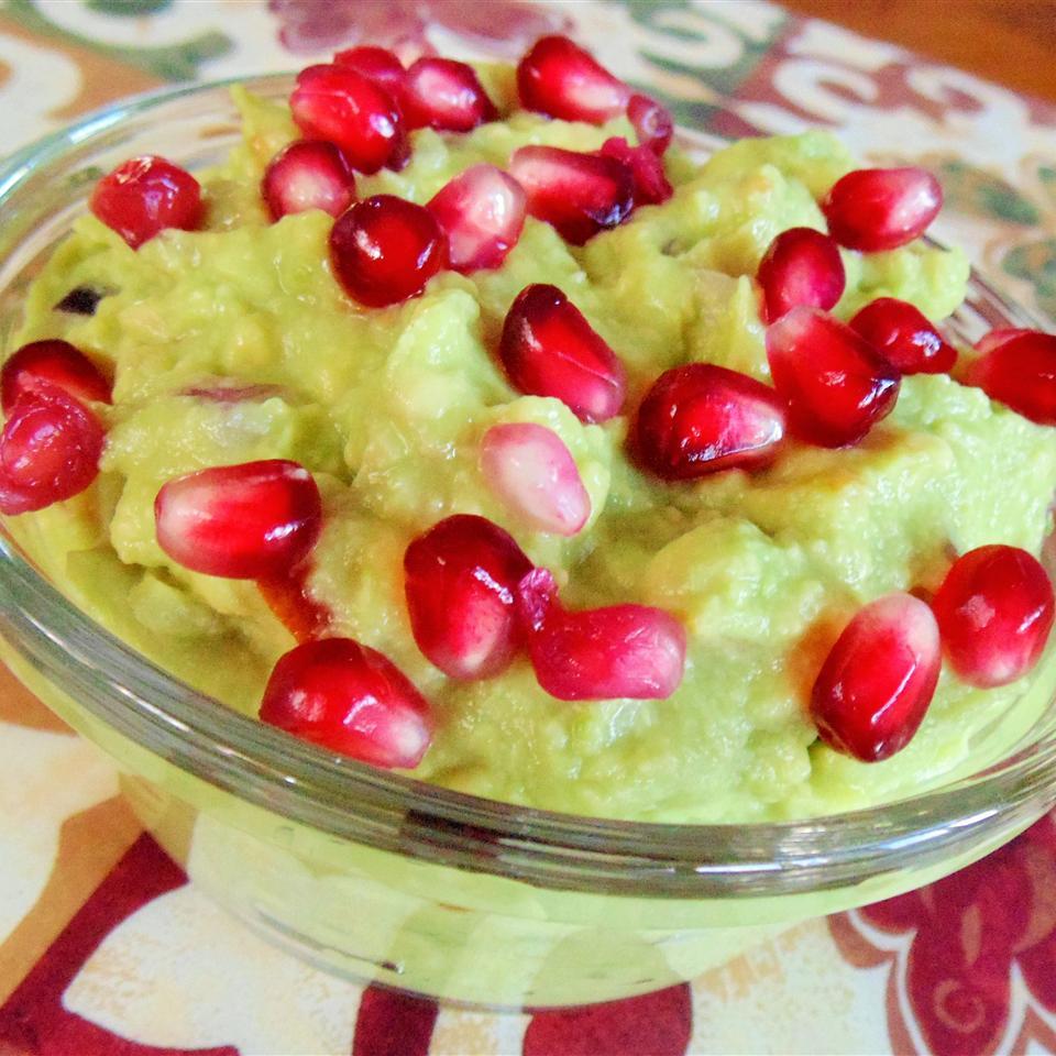 Andrea's Pomegranate Guacamole