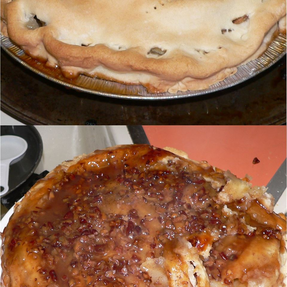 Upside Down Caramel Apple Pie Amber Higuera
