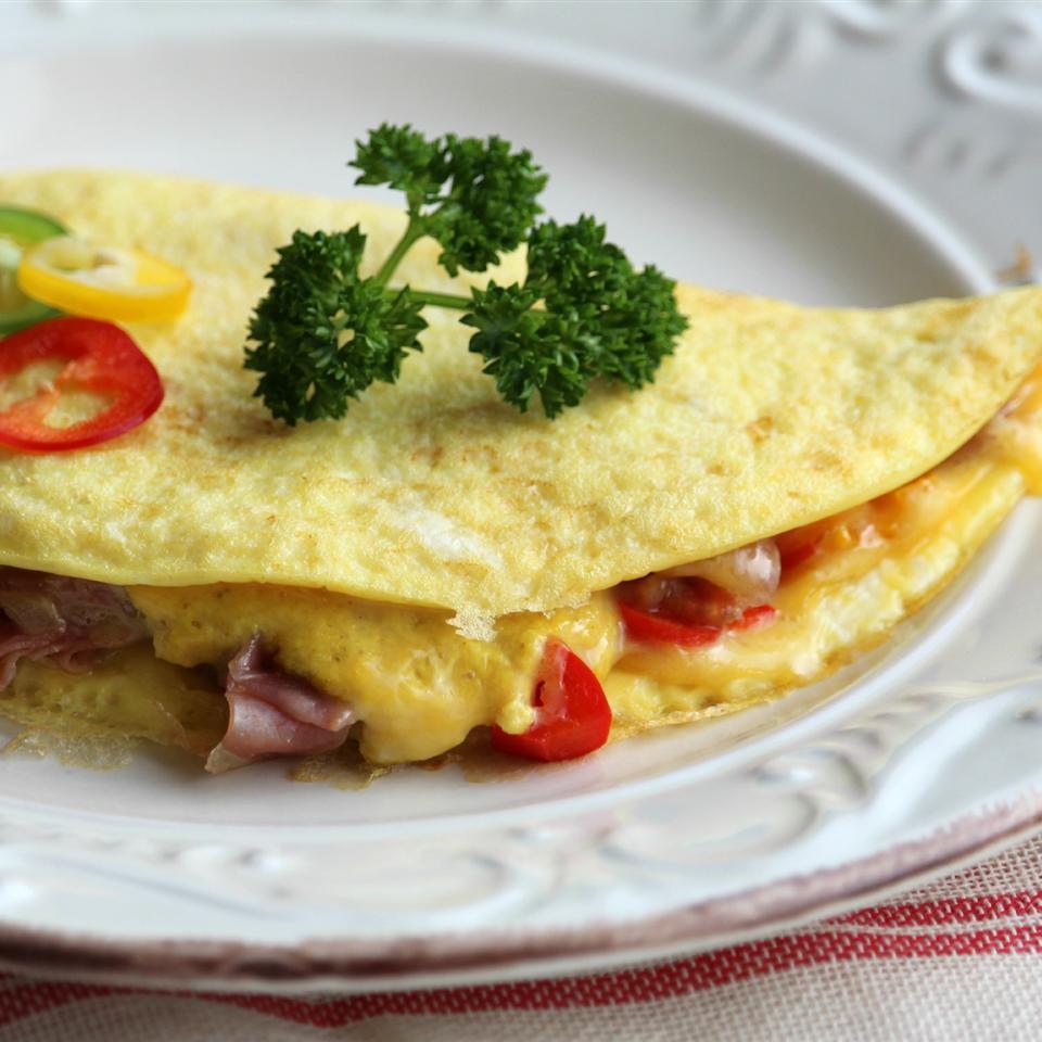 Prosciutto and Onion Omelette