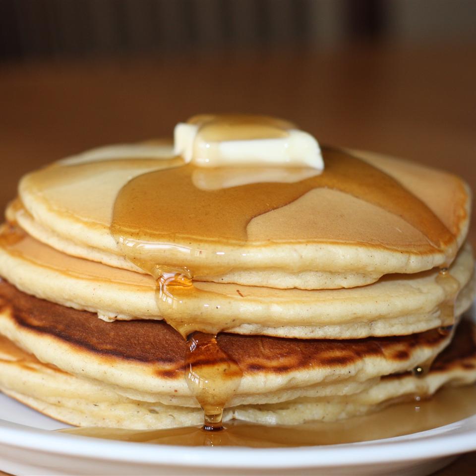 Mom's Spiced Eggnog Pancakes