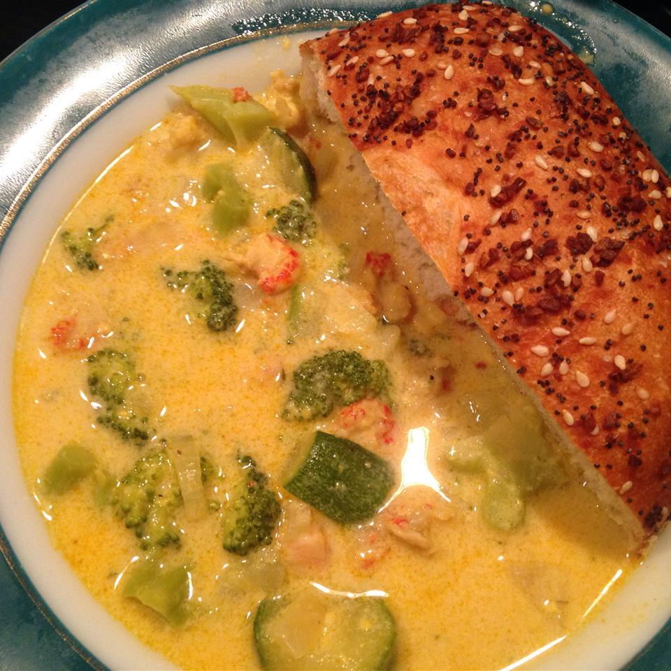 Broccoli Crawfish Cheese Soup Iris Lee