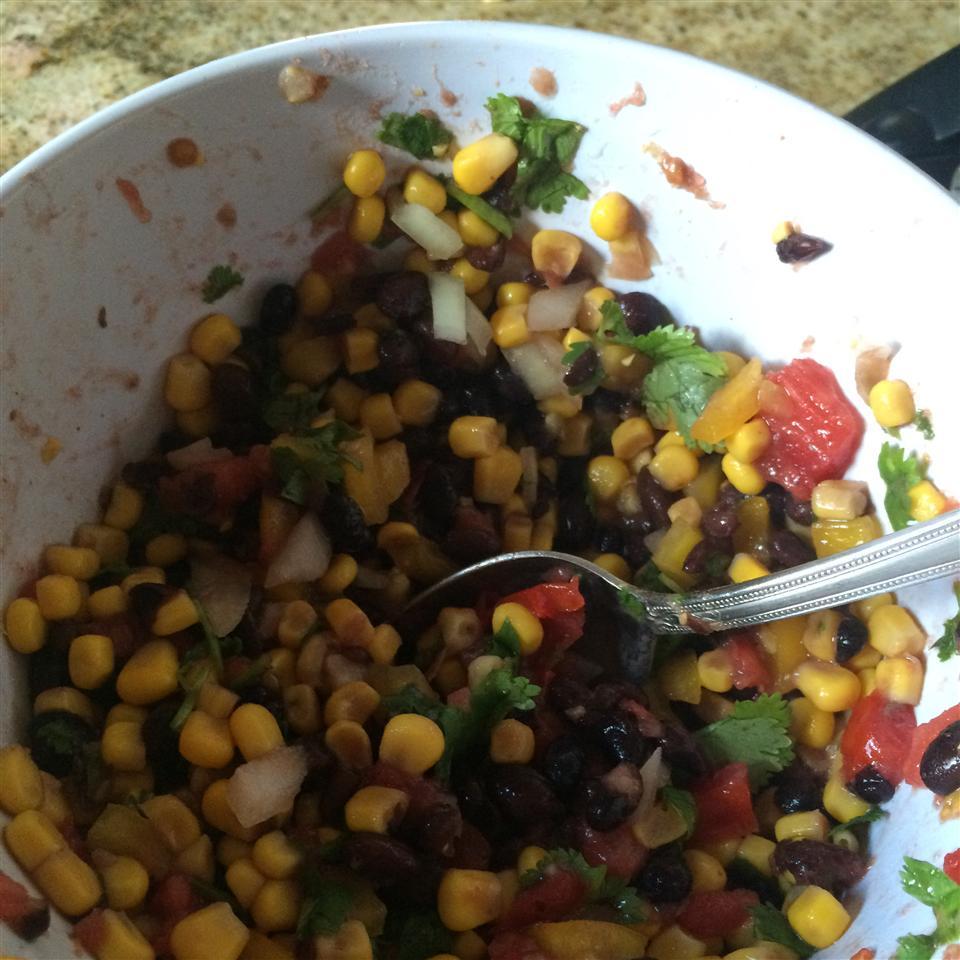 Heather's Cilantro, Black Bean, and Corn Salsa
