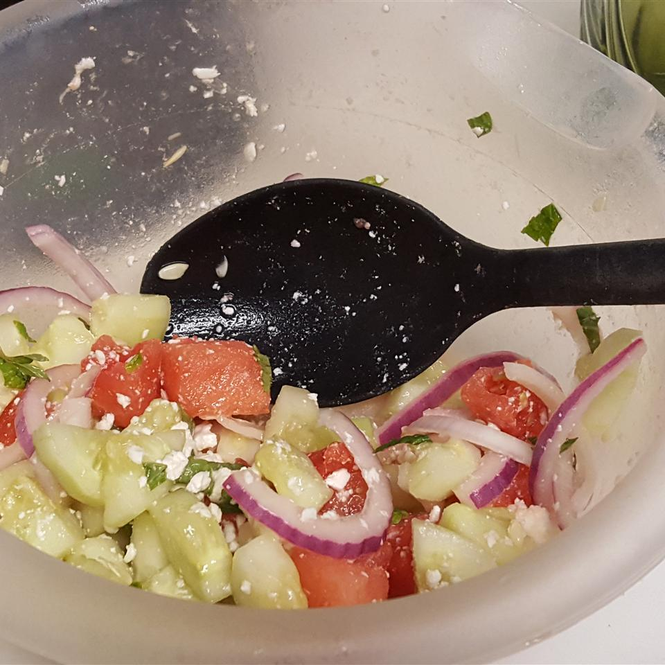 Refreshing Cucumber Watermelon Salad Dejah Anderson