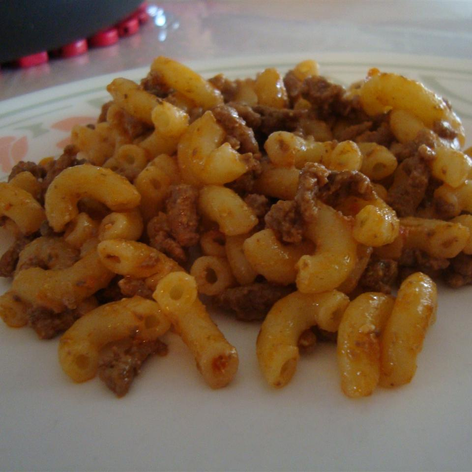 Presto Pesto Hamburger Mac