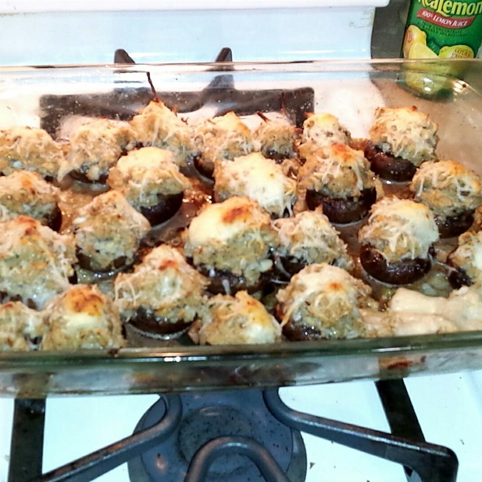 Savory Crab Stuffed Mushrooms