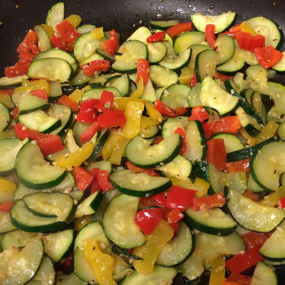 Garlic Vegetable Saute Ashley Masisak