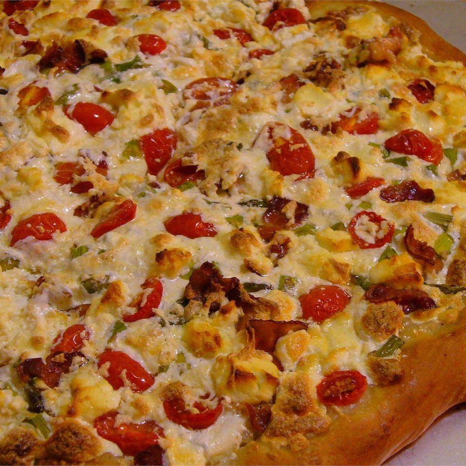 Bacon Asparagus Pizza James and Cassandra