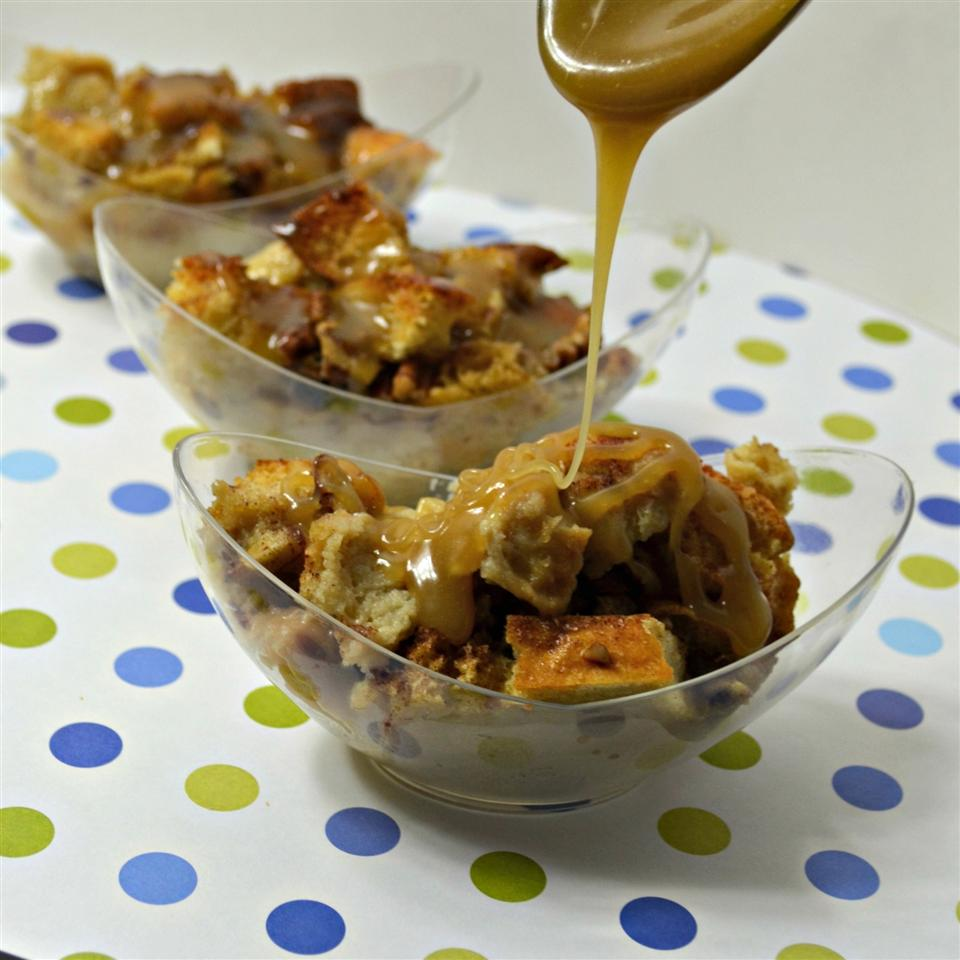 Coffee Liqueur Bread Pudding with Caramel Sauce