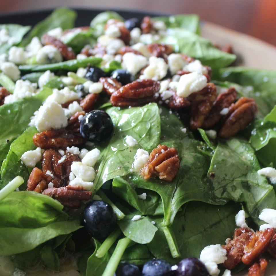 Blueberry Spinach Salad mommyluvs2cook