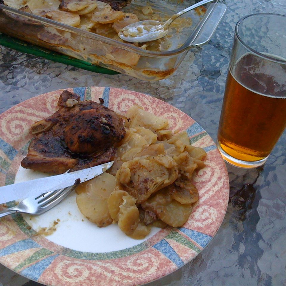 Pork Chops and Scalloped Potatoes