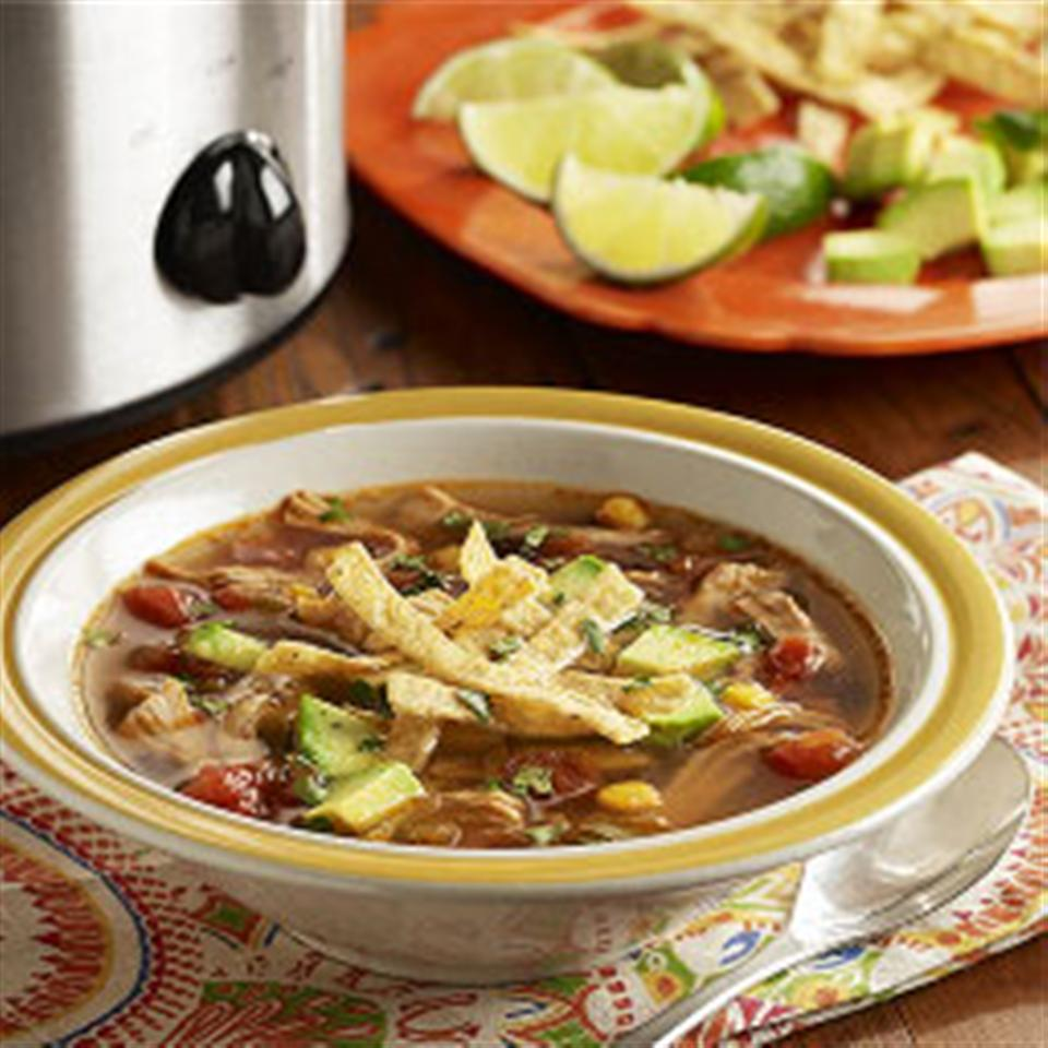 Slow Cooker Chicken Tortilla Soup from RO*TEL