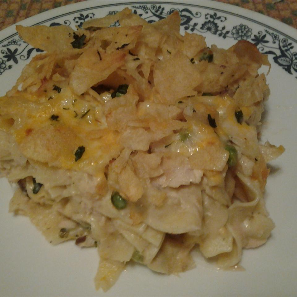 Tuna Noodle Casserole with Potato Chips Gwen W.
