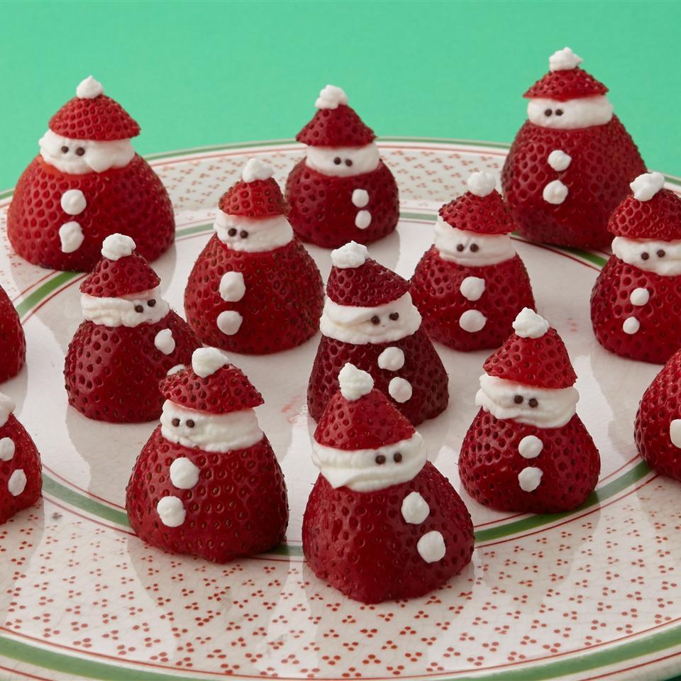 Mini Strawberry Santas Allrecipes Magazine