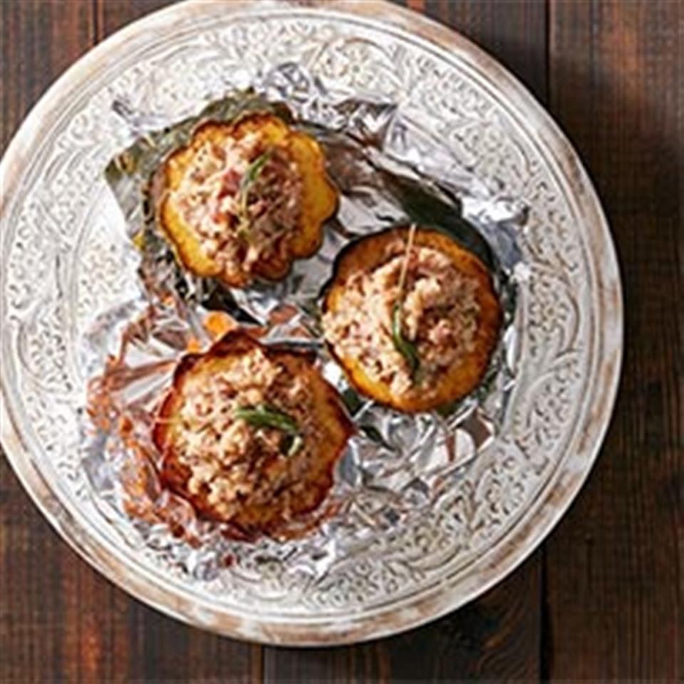 Stuffed Squash with Bacon, Dates and Sage