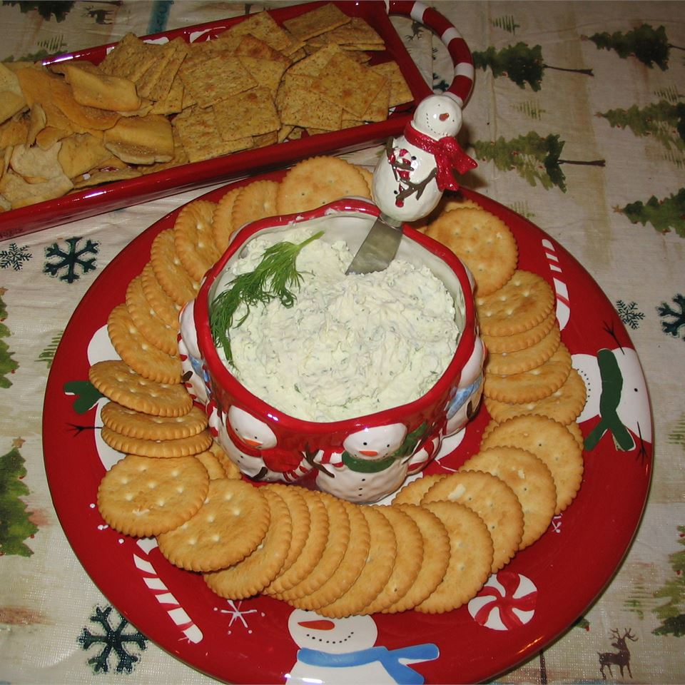 Dill, Feta and Garlic Cream Cheese Spread APALWE