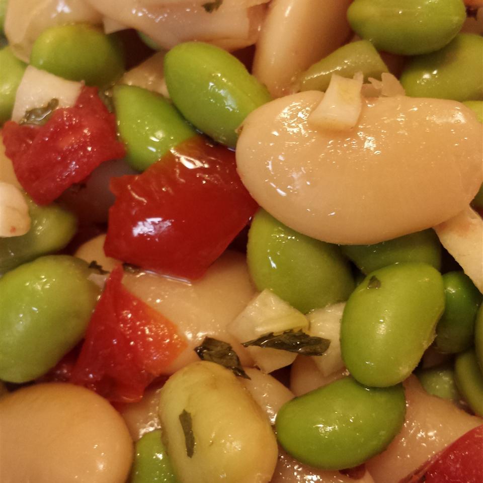 Fava and Butter Bean Salad Liz Dalton 'Lizzie'
