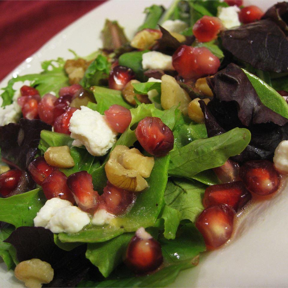 Pomegranate Feta Salad with Lemon Dijon Vinaigrette Nat