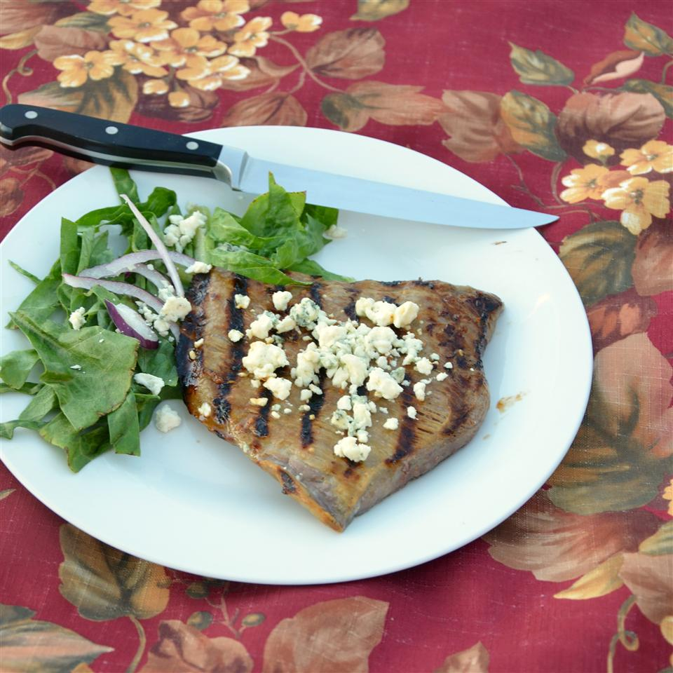 Soft Steak (Marinated Skirt Steak with Bleu Cheese)