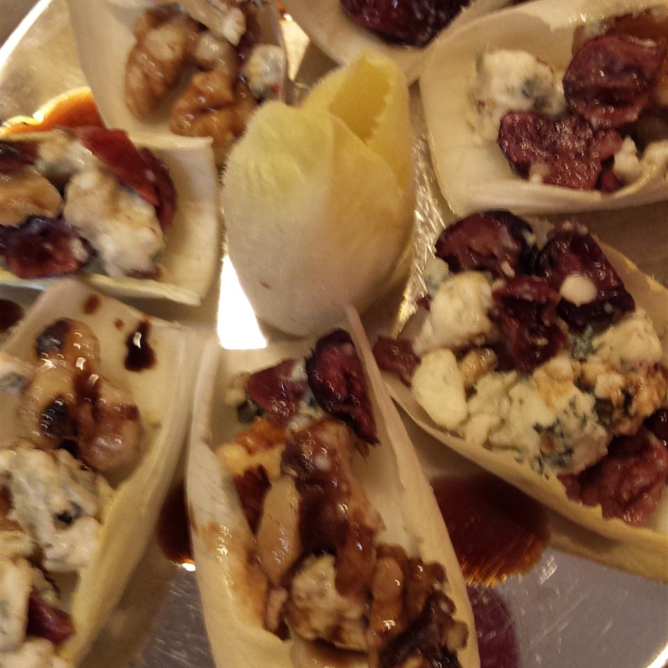 Easy Endive, Cranberry, Walnut Appetizers