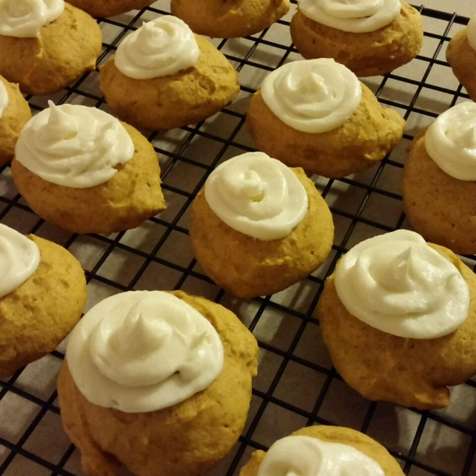 Pumpkin Cookies with Cream Cheese Frosting (The World's Best!) Amy Ponder