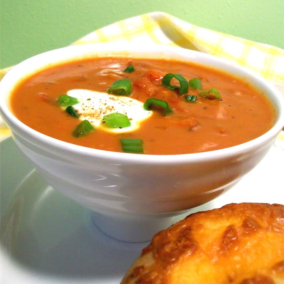 Roasted Red Pepper and Tomato Soup SunnyByrd