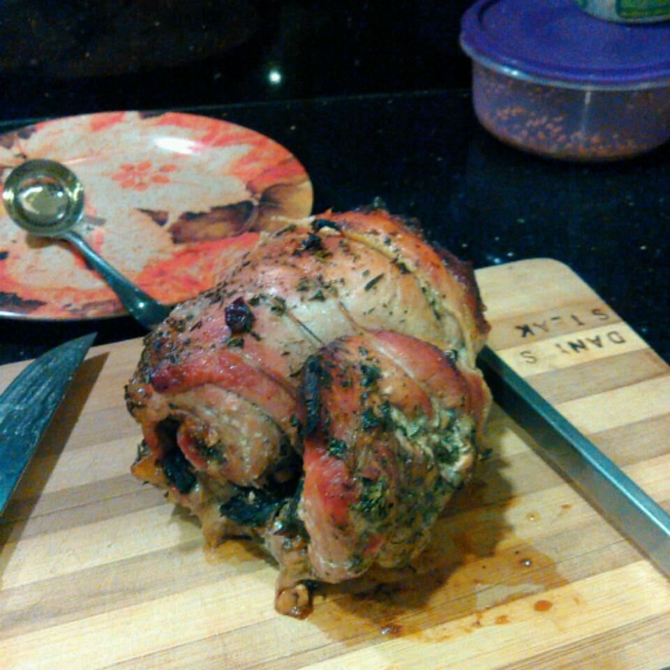 Stuffed Leg of Lamb with Balsamic-Fig-Basil Sauce Dany Kallassy