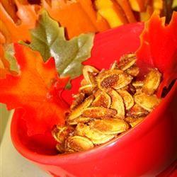 Caramelized Spicy Pumpkin Seeds