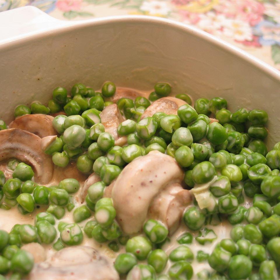 Creamy Mushroom Peas EBENGREENE