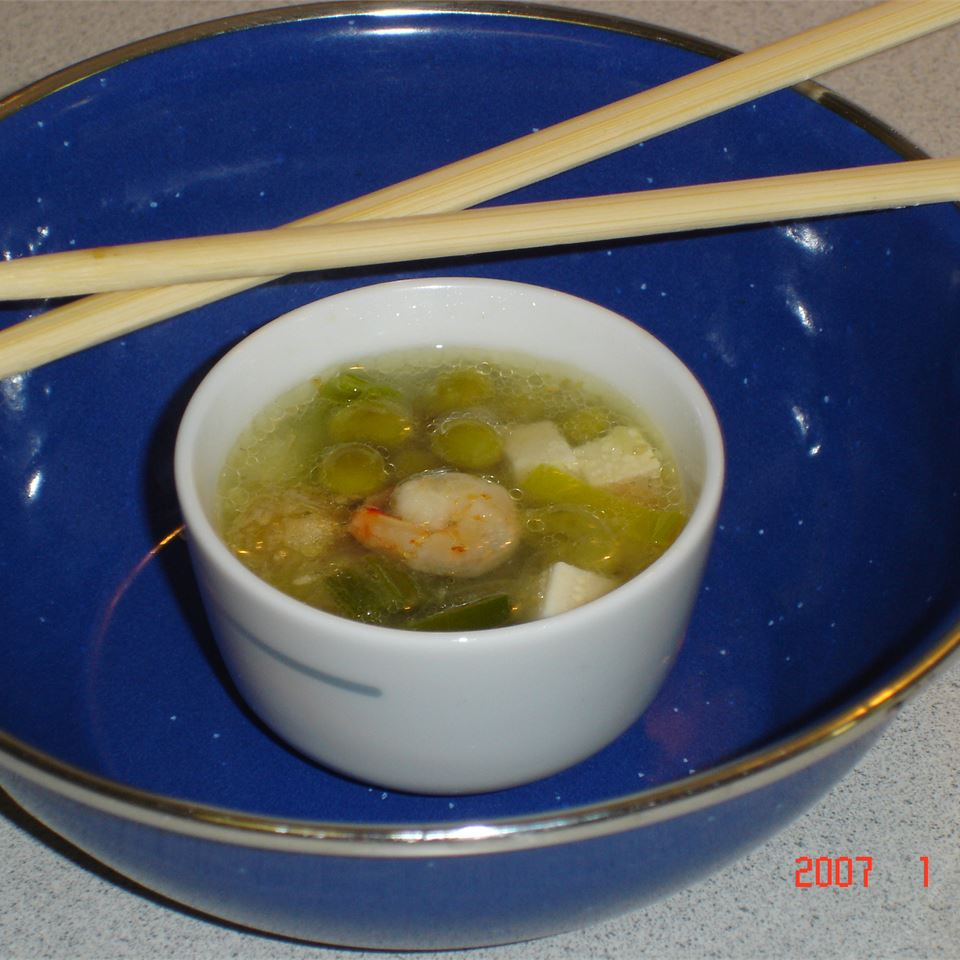 Chinese Shrimp and Tofu Soup