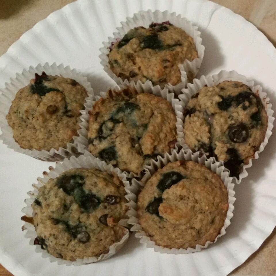 Blueberry Oatmeal Chia Seed Muffins Megan Mondschein