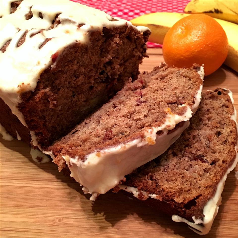 Cranberry-Orange Pumpkin-Spice Banana Bread