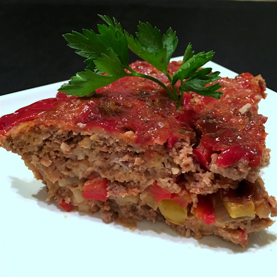 Onion- and Pepper-Stuffed Meatloaf Bill Adams
