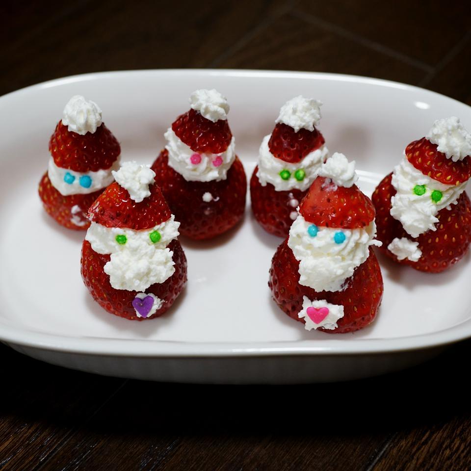 Mini Strawberry Santas Warren Rehman