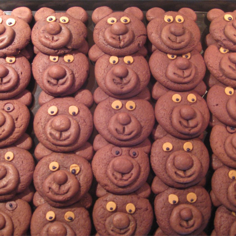 Chocolate Teddy Bear Cookies
